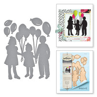 Spellbinders Shapeabilities Balloon Kids Etched Dies from the Joyous Celebrations Collection by Sharyn Sowell