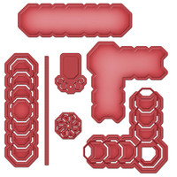 Spellbinders Shapeabilities Cut, Fold & Tuck Dies - Octagon Strips and Accents