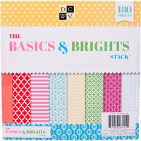 """DCWV Single-Sided Cardstock Stack 8""""X8"""" - Basics & Brights"""