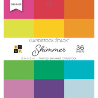 "DCWV Single-Sided Cardstock Stack 6""X6"" 36/Pkg - Shimmer"