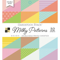 "DCWV Double-Sided Cardstock Stack 6""X6"" 32/Pkg - Milky Patterns"