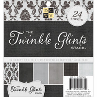 "DCWV Single-Sided Cardstock Stack 6""X6"" 24/Pkg - Twinkle Glints"