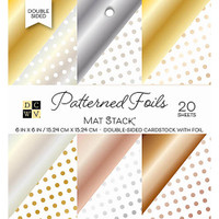 "DCWV Double-Sided Cardstock Stack 6""X6"" 20/Pkg - Patterned Foils"