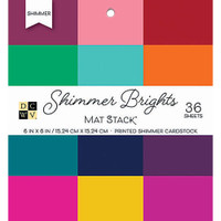 "DCWV Single-Sided Cardstock Stack 6""X6"" 42/Pkg - Shimmer Brights"