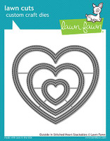 Lawn Fawn Die - Outside In Stitched Heart Stackables