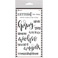 "Ranger Letter It Clear Stamp Set 4""X6"" - Celebration"