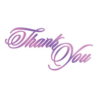 Couture Creations GoPress Foil Hotfoil Stamps, Everyday Sentiments - Thank You