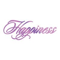 Couture Creations GoPress Foil Hotfoil Stamps, Everyday Sentiments - Happiness