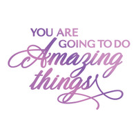 Couture Creations GoPress Foil Hotfoil Stamps, Everyday Sentiments - Amazing Things