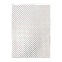 Tonic Studios Craft Perfect Hand Crafted Embossed Cotton Paper A4 - Silver Chequer - 5 Pk