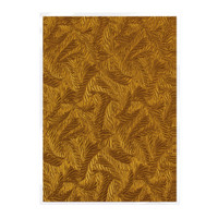 Tonic Studios Craft Perfect Hand Crafted Embossed Cotton Paper A4 - Copper Feathers - 5 Pk