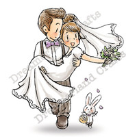 Dreamerland Crafts Cling Stamp - Welcoming The New Couple