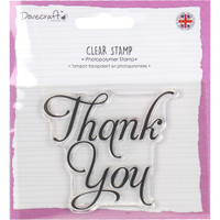 TrimCraft Dovecraft Clear Stamp - Thank You