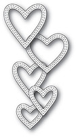 Memory Box Die - Classic Double Stitched Heart Rings