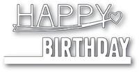 Memory Box PoppyStamps Dies - Happy Birthday Combo