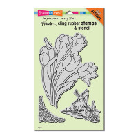 Stampendous Cling Stamps - Dutch Tulips