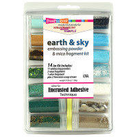 Stampendous Embossing Powder 14 Jar  Kit - Exclusive SMS Earth & Sky Kit