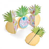 Sizzix Thinlits Dies Set By Jen Long - Card, Pineapple Fold-A-Long