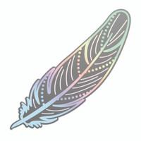 Couture Creations Nouveau Cut & Foil Die - Delicate Feather