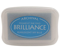 Brilliance Pigment Ink Pad - Pearlescent Sky Blue
