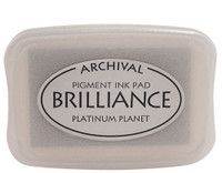Brilliance Pigment Ink Pad - Platinum Planet