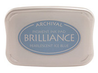 Brilliance Pigment Ink Pad - Pearlescent Ice Blue
