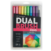 Tombow Dual Brush Pen Set, Bright, 10PK