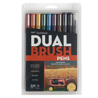 Tombow Dual Brush Pen Set, Muted, 10PK