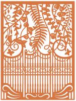 Simply Defined Dies Set - Spring Fling Collection, Contour Dies - Garden Gate (Not Part of the Bundle)