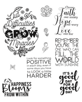 Simply Defined Stamps Set - Spring Fling Collection Inspirational Sentiment Stamps -Good Times Ahead (Not Part of the Bundle)