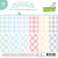 Lawn Fawn Petite 6x6 Paper Pack 36/pkg - Gotta Have Gingham