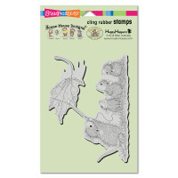 Stampendous Cling Rubber Stamp - Leaf Kite