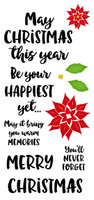 Inky Antics Clear Stamps - Happiest Christmas