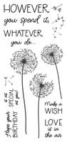 Inky Antics Clear Stamps - Dandelion Birthday