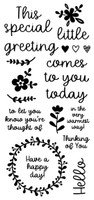 Inky Antics Clear Stamps - Little Greeting