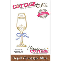 CottageCutz Elites Die - Elegant Champagne Glass