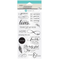 Hampton Art Clear Stamps  - Faith