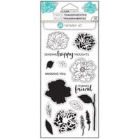 Hampton Art Clear Stamps  - Flower Happy