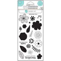 Hampton Art Clear Stamps  - Flower Joy