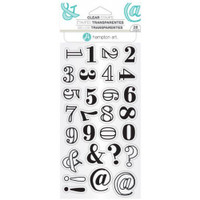 Hampton Art Clear Stamps  - Layers Numbers