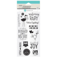 Hampton Art Clear Stamps  - New Baby