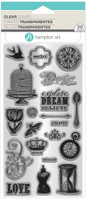 Hampton Art Clear Stamps  - Vintage Icons