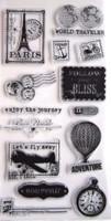 Hampton Art Clear Stamps  - World Travel