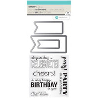 Hampton Art Stamp & Die Set - Birthday Banners