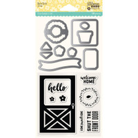 Hampton Art, Jillibean Soup Shaker Clear Stamps & Die Set - Barn Door