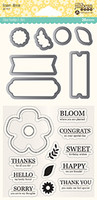 Hampton Art, Jillibean Soup Shaker Die and Stamp Set - Flower Bloom