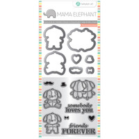 Hampton Art, Mama Elephant Stamp & Die Set - Lovey Puppy