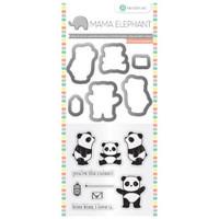 Hampton Art, Mama Elephant Stamp & Die Set - Panda