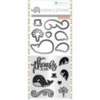Hampton Art, Mama Elephant Stamp & Die Set - Whale Thanks
