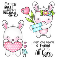 Darcie's Heart & Home Cling Stamp Set - Funny Bunny